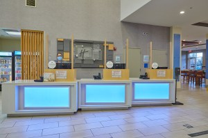 Front Desk with plexiglass