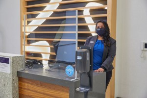 Hotel Associate wearing a mask