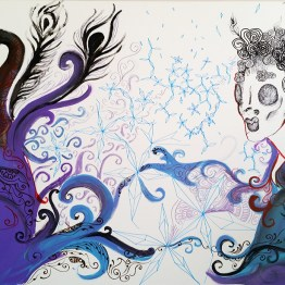 Merging Inks Canvas - Chasing purple fairytales