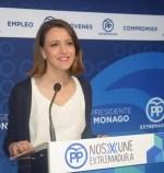 """Gema Cortés afirma que es """"urgente"""" bajar los impuestos en Extremadura"""