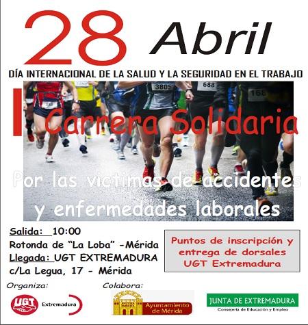 Carrera solidaria en Mérida para conmemorar el Día Internacional de la Salud y la Seguridad en el Trabajo