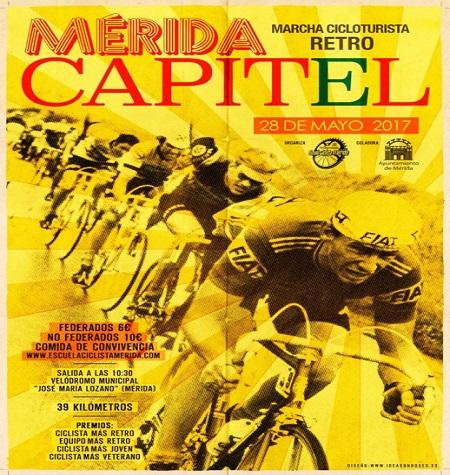 Marcha Cicloturista Retro 'Mérida Capitel', el 28 de mayo