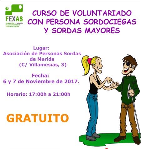 Curso de Voluntariado con personas sordociegas y personas sordas mayores