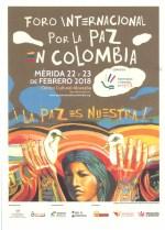 Mérida, sede del Foro Internacional por la Paz en Colombia