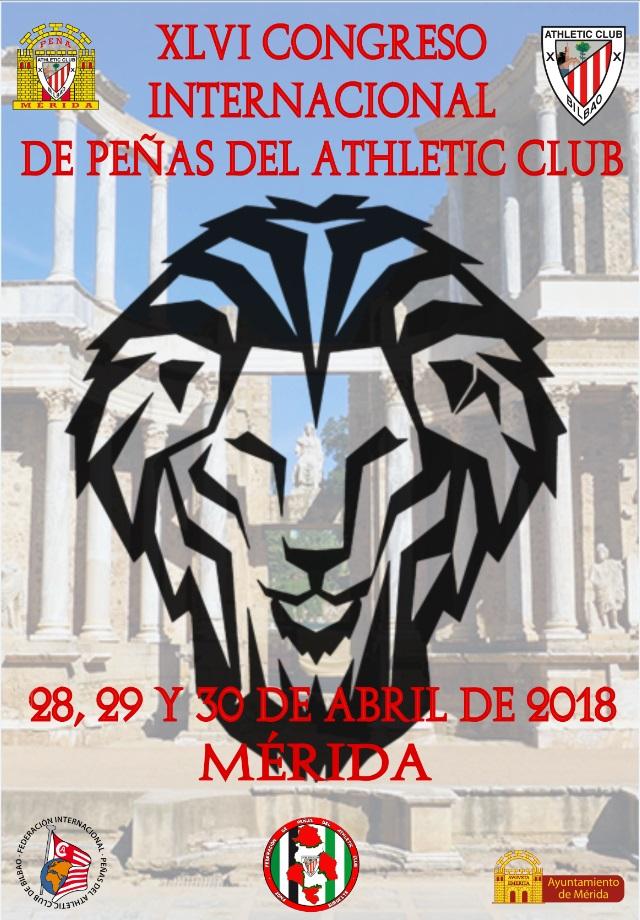 """La Peña """"Athletic Club"""" celebrará en Mérida su XLVI Congreso Internacional"""