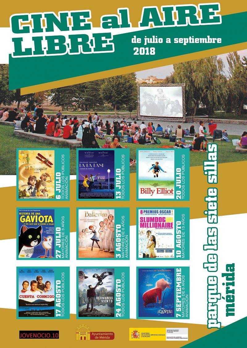 El viernes comienza la XII edición del Ciclo de cine al aire libre en Mérida