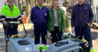 Recepcionadas las dos nuevas barrederas para el Cementerio Municipal de Mérida
