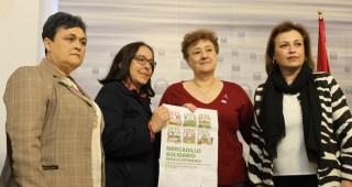 Mercadillo solidario de la Asociación Española contra el Cáncer, de Mérida