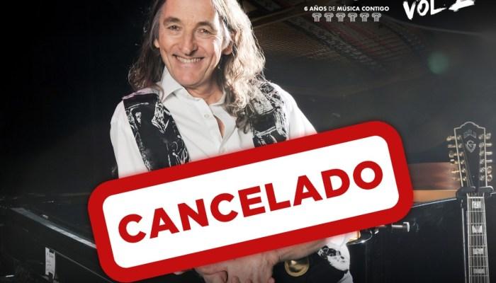 Roger Hodgson suspende su concierto en Stone&Music, programado para el 25 de septiembre