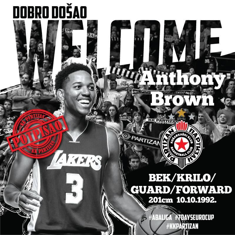 ZVANIČNO: Entoni Braun stigao u Partizan!