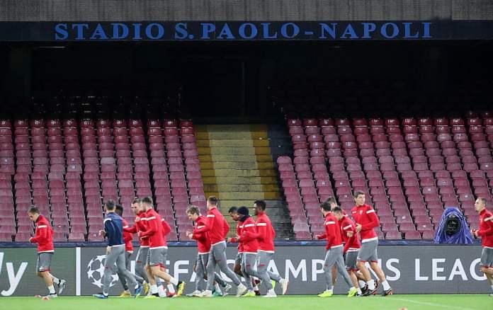Crvena zvezda Napoli trening