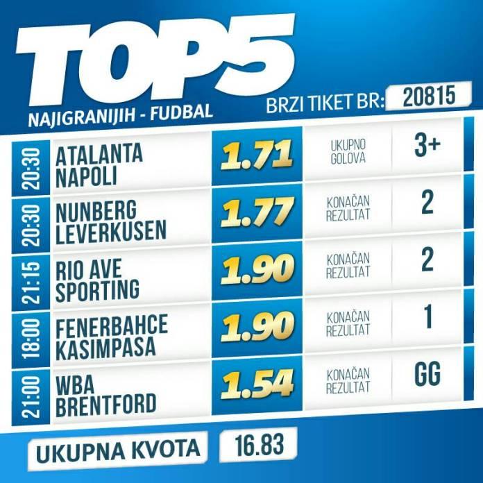 Top 5: Golovi u Bergamu, trijumf Leverkuzena i konačno Fener!