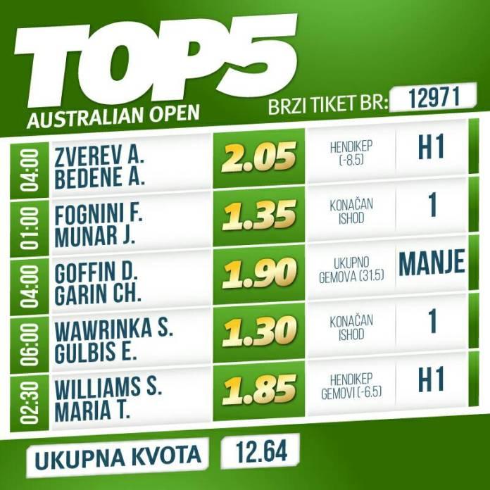 """Zverev nastavlja u šampionskom ritmu, Serena traži """"osvetu"""""""