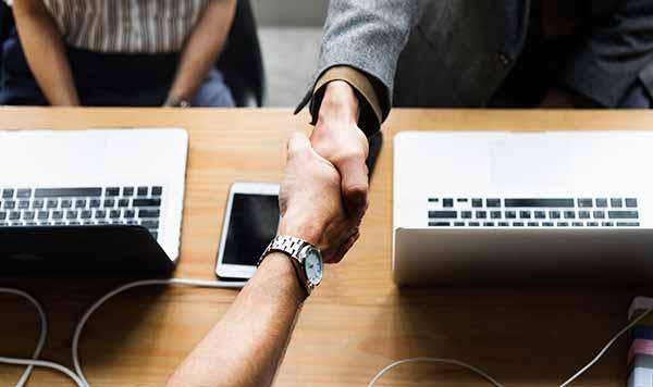 Photo: shaking hands