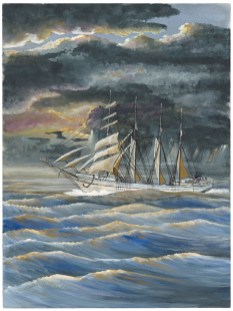 John A. Doerner – William Carson. The Pride of Fairhaven where she was built, the 890 ton Barkentine had a length of 195 feet, 40 foot Beam, and 16 foot depth of hold. The ship perished on her maiden voyage in a collision with a steamer in the Hawaiian Islands.