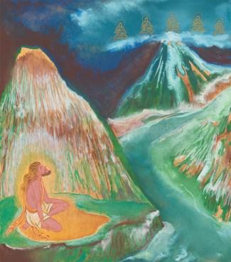 Yogi visions of 5 Buddhas