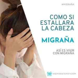 Vivir con migraña, como si estallara la cabeza
