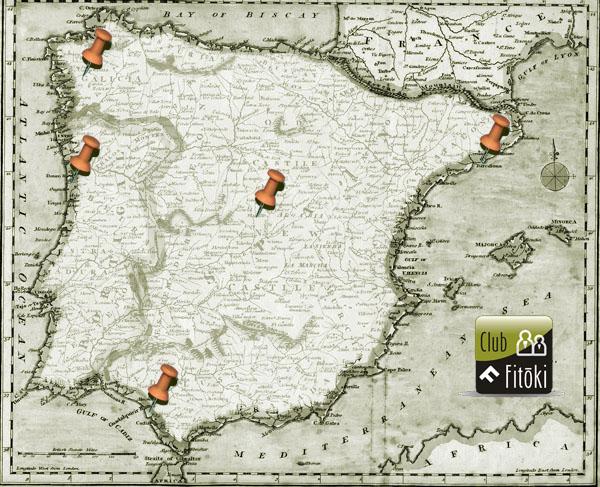 Seminarios de formación en Fitoterapia Fitoki 2011 - Mapa
