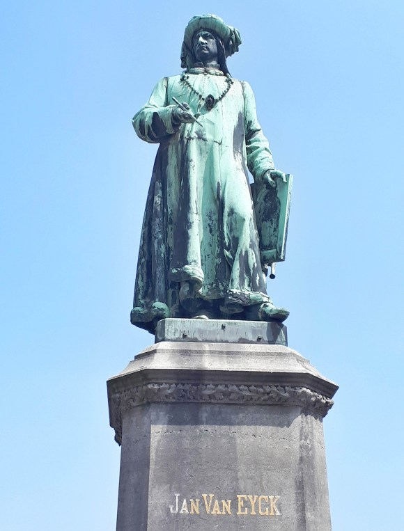 Statua Jan Van Eyck - Bruges