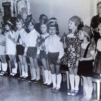 At the kindergarten in 1979