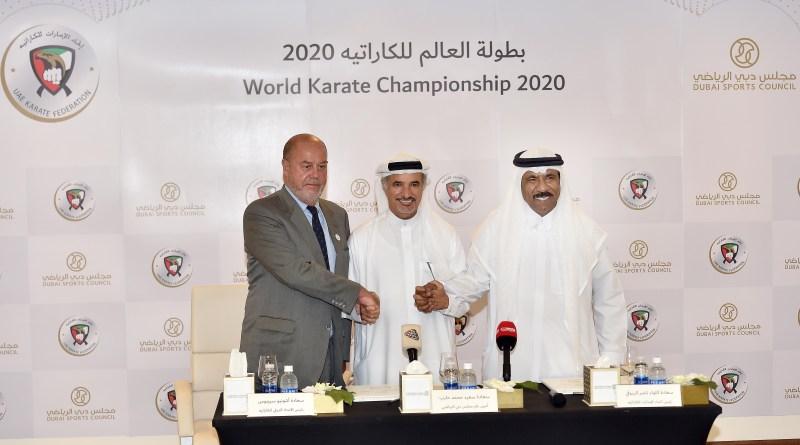مجلس دبي الرياضي واتحاد الكاراتيه يوقعان اتفاقية تعاون لتنظيم مونديال 2020