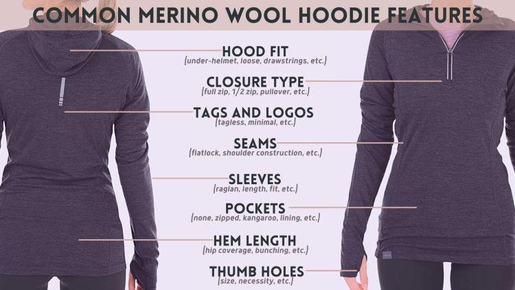 Merino Wool Hoodie Features