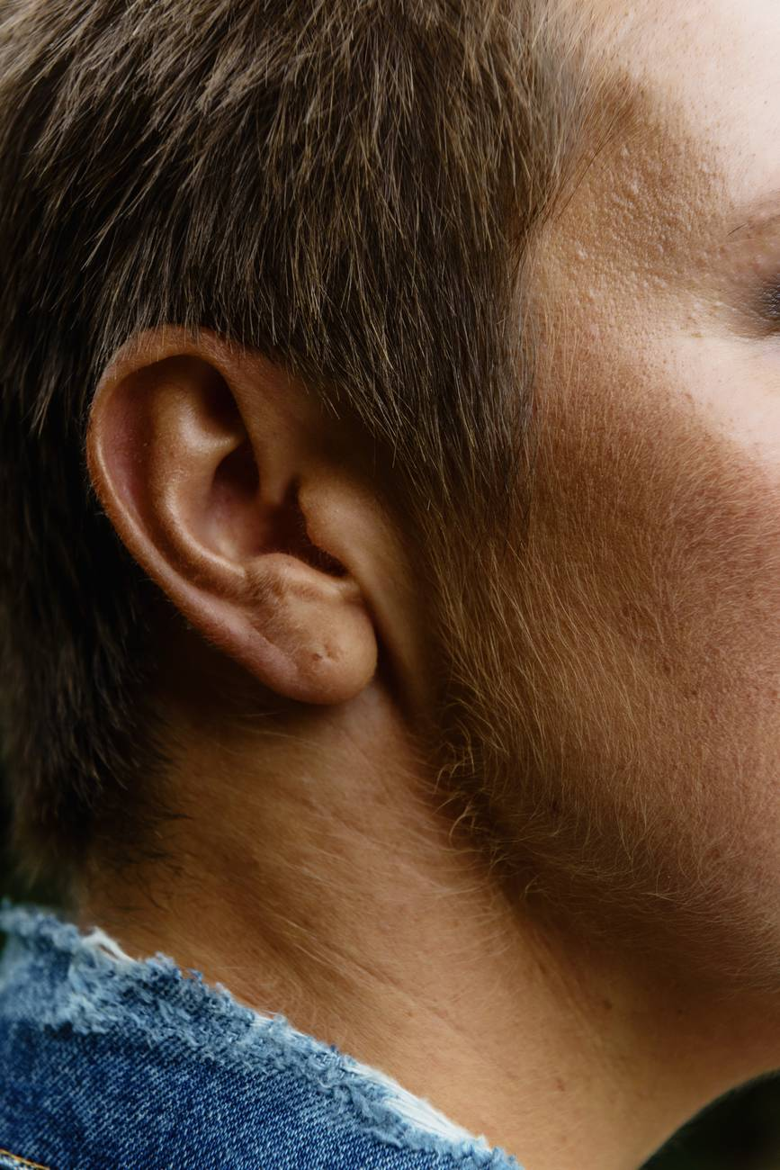person s right ear