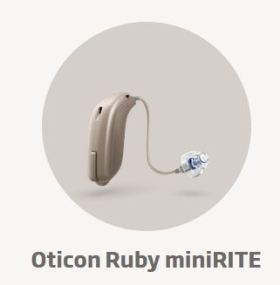 Oticon Ruby miniRITE hearing aid