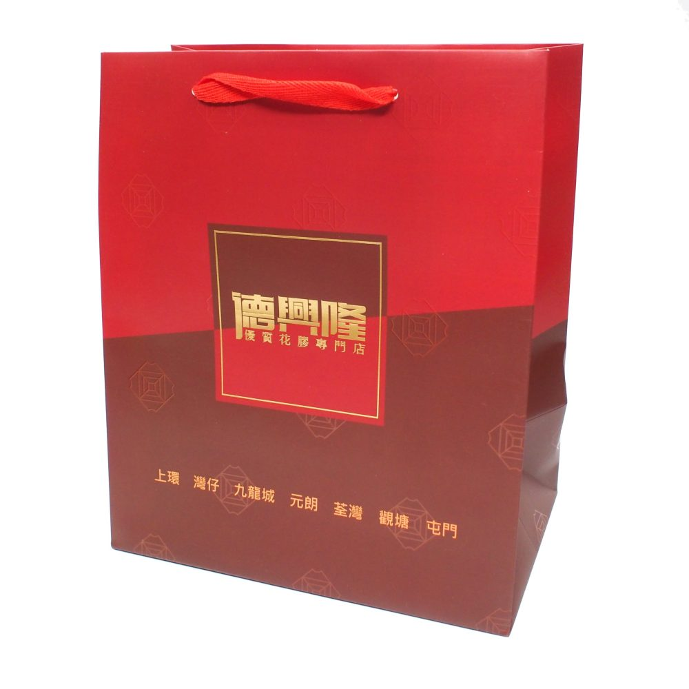 Paper Carrier Bag with V-Shape Ribbon