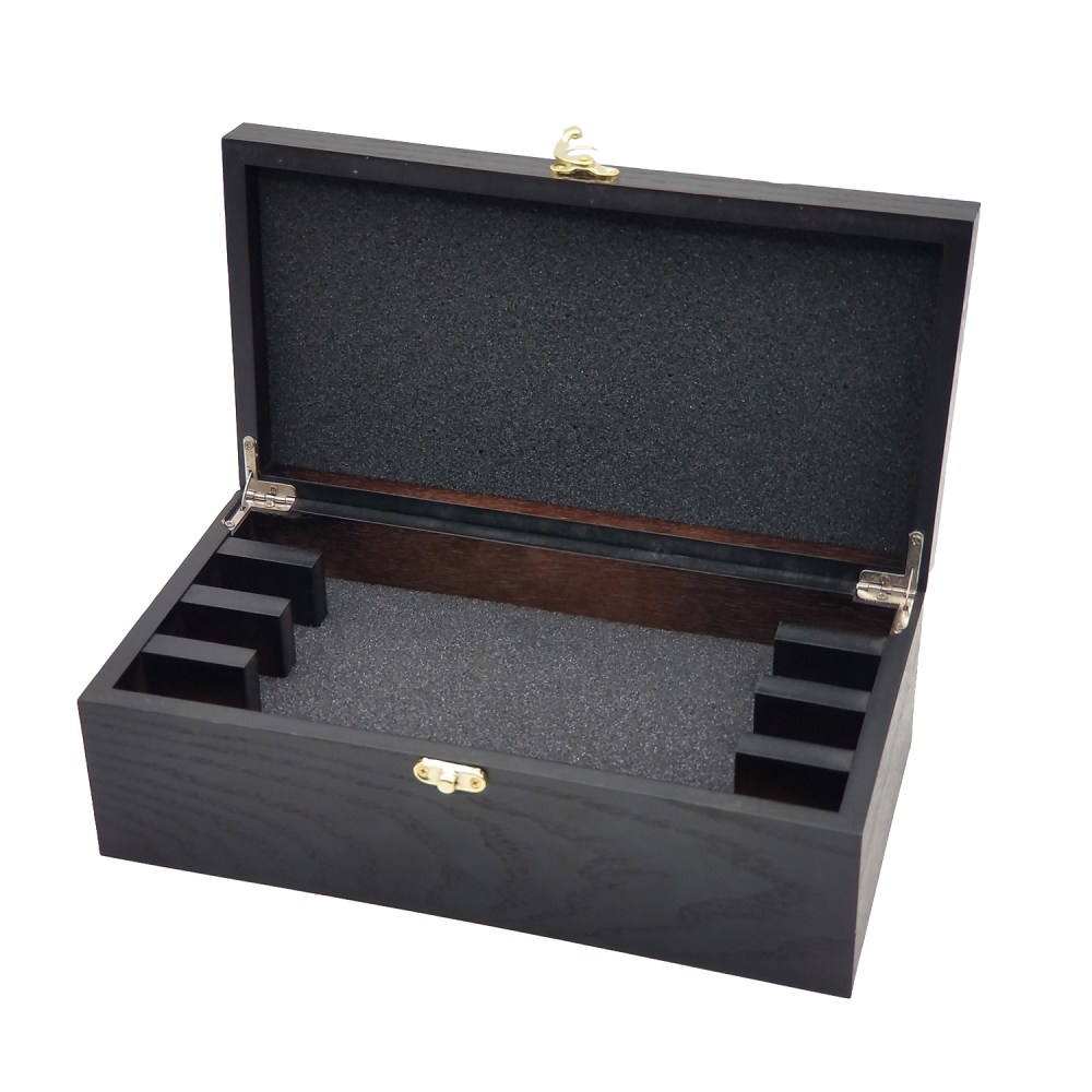 Hinged Wooden Box with Insert
