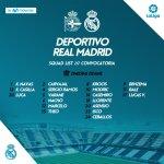 Convocatoria Deportivo de la Coruña-Real Madrid | Jornada 01 Liga Santander