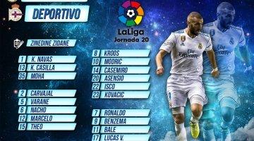 Convocatoria Real Madrid-Deportivo de la Coruña   Jornada 20 Liga Santander
