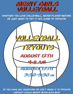 volleyball tryouts poster