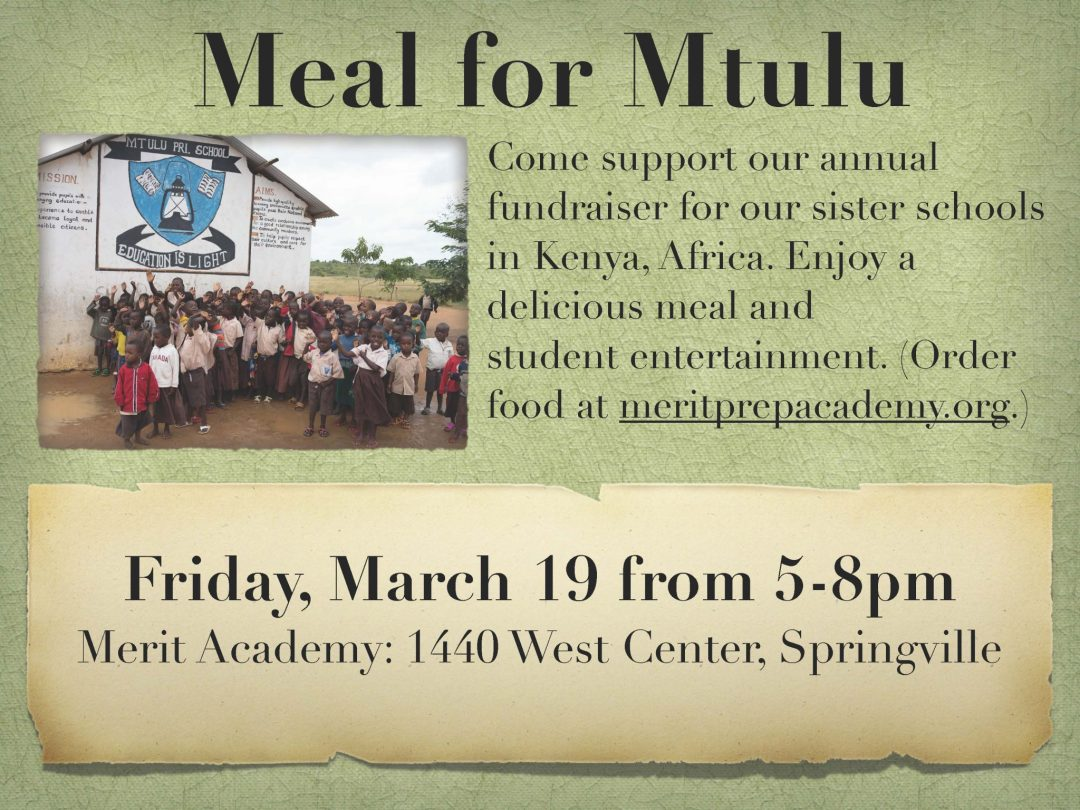 meal for mtulu africa fundraiser to buy desks