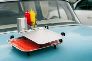 Car hop trays and accessories