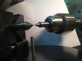 centering the spindle to the fixture