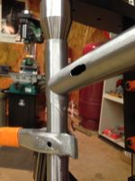slot for internal routing on both sides of the top tube