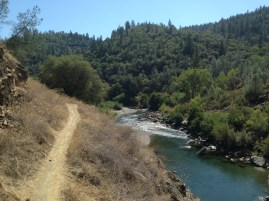 Riding home from Middle Fork Auburn, Confluence Trail, American River