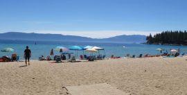 Meeks Bay beach bumming