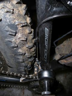 """Oops...bad one Norco. """"Meant to fit 5"""" tires""""...? I don't think so!"""