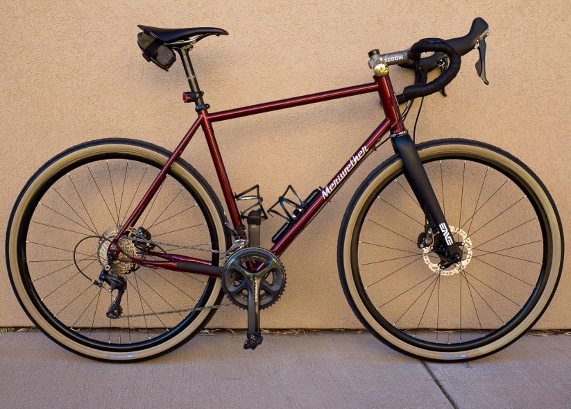 Timmy's R.A.D (Ride All Day) gravel bike in 700c mode. Photo by TimmyPphotography