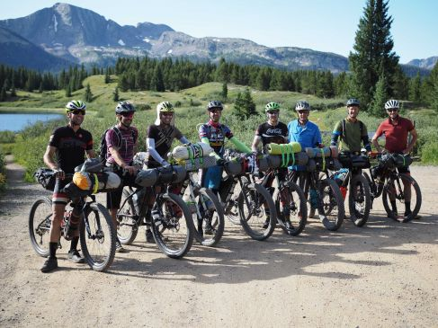 I joined the group at Molas Pass. Pete, Mark and Travis had started in Denver the previous week; Bjorn, JHK and Ted joined at Spring Creek Pass, and Frank started met the three at Sargents Mesa but bailed due to a Lefty issue a day later to return on Molas with a different bike.