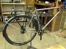 testing with rack and fenders and WTB Nano 40