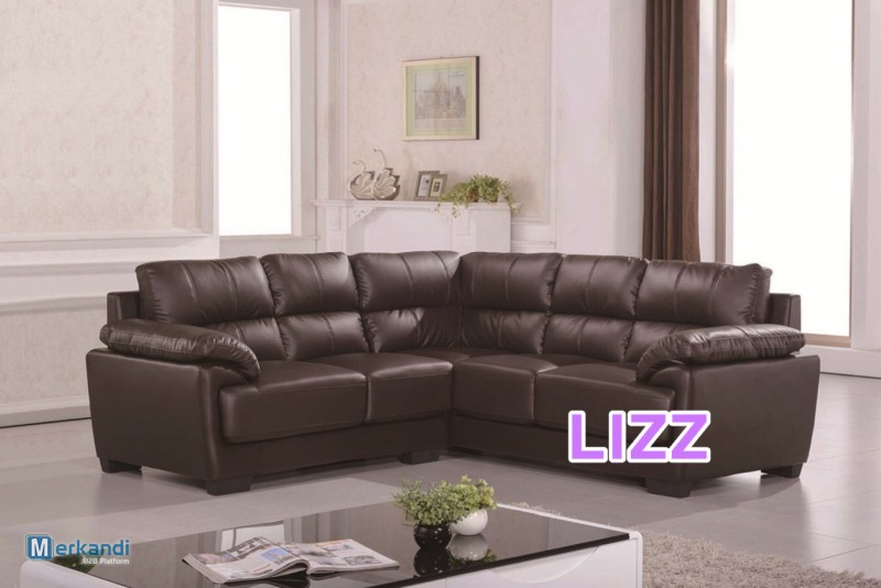modern living room l shaped leather sectional sofa set lz371b brown