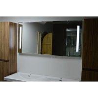 Badezimmer Wandspiegel mit 2 Lichtbalken 100 x 60 cm, 99,72