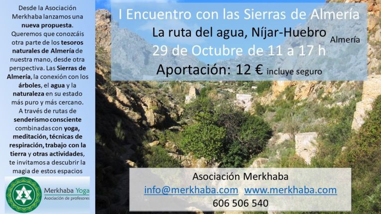 I Encuentro con las Sierras de Almería. Yoga y naturaleza