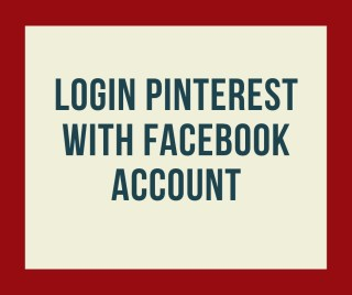 LOGIN PINTEREST WITH FACEBOOK ACCOUNT