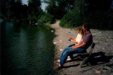 Mee & Lee Fishing at Ennis Lake