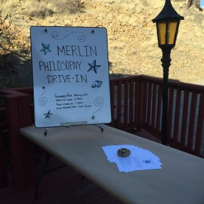 Philosophy Drive-In Sign & Table