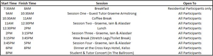 Agenda Sunday